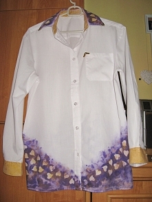Koszula DIY .Była biała na ...
