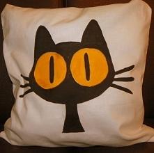 Przepiękna, oryginalna i mięciutka poducha CAT :) Handmade!!! Świetny pomysł ...