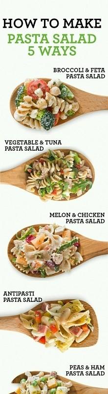5 sposobow na salatke z makaronem