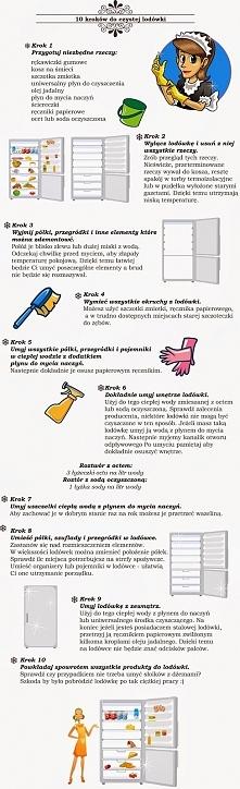10 kroków do czystej lodówki. Zapraszam na Bloga