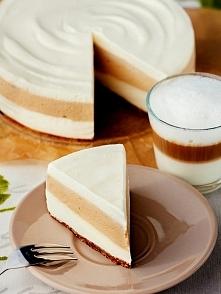 ... mmm :)    Przepis:  Przepis jest do wykorzystania w tortownicy o średnicy 18cm.  sernik kawowy bez pieczenia  Sernik latte macchiato bez pieczenia Składniki: spód 12 sztuk o...