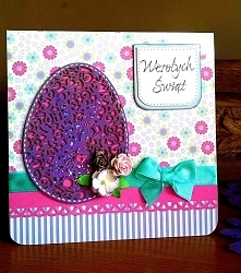 Easter egg bunny Purple