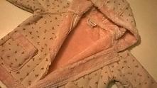 Prześliczny słodki płaszczyk pastelowy w różyczki, dla dziewczynki na wiosnę,...
