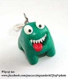 Zielony potworek, brelok z ...