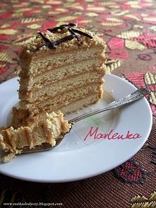 Marlenka (miodowo - orzechowa),  przepis po kliknięciu w zdjęcie