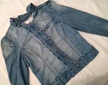 Kurtka jeansowa z falbanką, jak nowa, sprzedam.....
