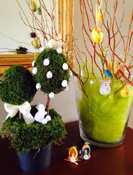 Drzewko Wielkanocne W Domu Jednej Z Moich Klientek Na