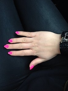 nails hybryda semilac neon ...