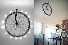 lampa z koła rowerowego