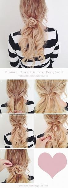 Kwiatek z włosów!