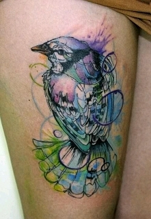 watercolor abstract tattoo ...