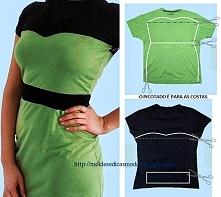 Sukienka z dwóch koszulek