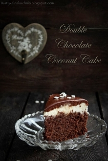 Czekoladowo - kokosowe ciasto,  link do przepisu w komentarzu