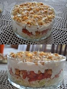Sałatka z kurczakiem i fetą z sosem czosnkowym- przepis w komentarzu ;) ja uż...