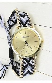 zegarek złota tarcza plecio...