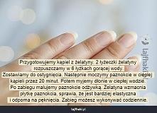 wzmocnienie paznokci, żelatyna