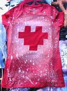 Pixelowe serce - na koszulce