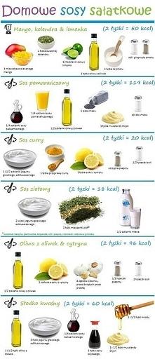 domowe sosy sałatkowe :)