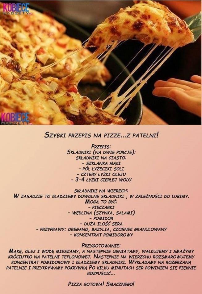 szybki przepis na pizze