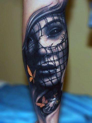 Tatuaże Na Przedramieniu Twarz Na Tatuaże Zszywkapl
