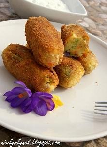 Krokiety ziemniaczane z brokułem i kurczakiem. Zapraszam na bloga