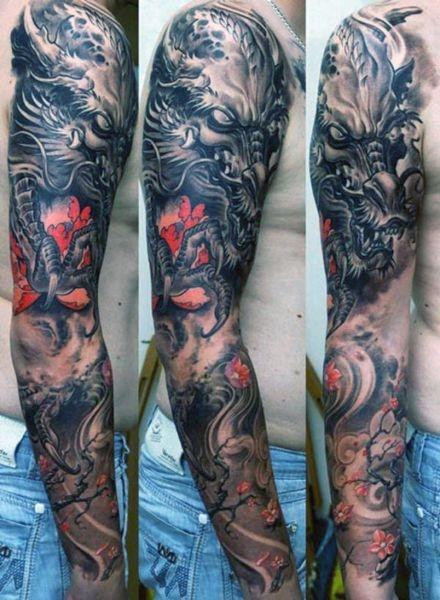 Tatuaże Męskie Smok Na Ręce Na Tatuaże Zszywkapl