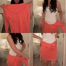 kolejna spódnica z bluzki...