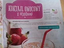 koktajl owocowy z otrębami ;)