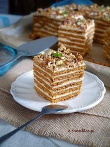 Marlenka - pyszne ciasto kajmakowe. Przepis po kliknięciu na zdjęcie.