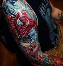 spiderman alien tattoo