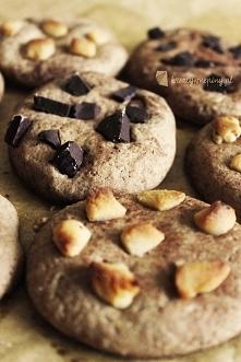 Kreatywne Piny; Ciasteczka kakaowo-cytrynowe z czekoladą i marcepanem Po prze...