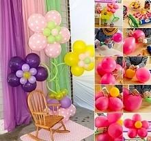 Kwiaty z balonów-dekoracja ...