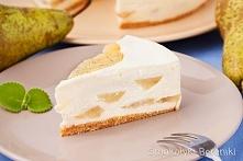 Sernik gruszkowy z białą czekoladą bez pieczenia   Przepis po kliknięciu w zd...