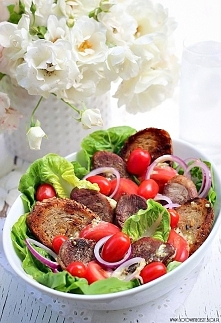 Sałatka z sałatą rzymską, p...