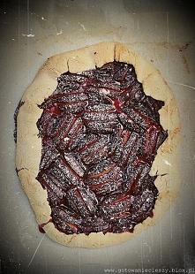 Rustykalna tarta śliwkowo cynamonowa