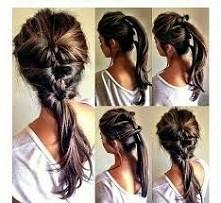 fryzura prosta w wykonaniu