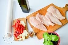 dietetyczny obiad z kurczaka