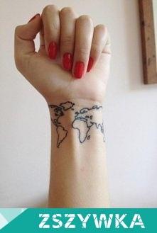 Bardzo Fajny Tatuaż Dla Podróżników Na Travels
