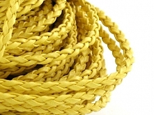 Rzemień Pleciony Żółty