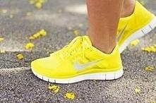 Nike free run żółte :D