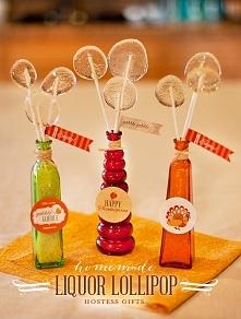 przepis na lizaki z alkoholem - cudowny pomysł na atrakcyjny dodatek na wieczór panieński! :)