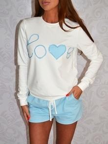 Xstrit Fashion - Dres buza + szorty LOVE cekiny błektny by Xstrit Fashion