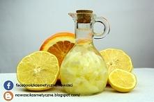 Tonik cytrynowy. Znacie? Tonik można sporządzić na bazie alkoholu i wody. Tonik przeznaczony jest do cery zmęczonej, poszarzałej i pozbawionej blasku. Zawiera dużo witaminy C, k...