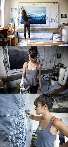 Zaria Forman - malowane palcami