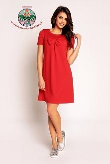 wiosenna czerwona sukienka