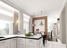 Aranżacja białej kuchni z c...
