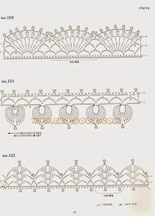 Motywy szydełkiem - wzory