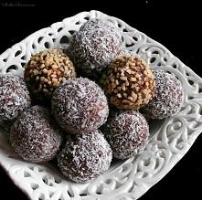 Bajaderki (Ziemniaczki) - Składniki:  360 g ciasta biszkoptowego (najlepiej lekko podsuszonego) 75 g herbatników Bajaderki (Ziemniaczki) - Przepis - Słodka Strona1/3 szklanki ml...