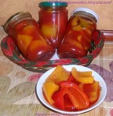 Papryka w soku pomidorowym Przepis łatwy i bardzo smaczny. Kilka lat temu dos...