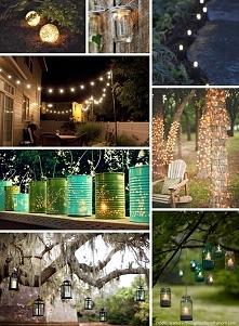 Pomysły na oświetlenie ogrodu.